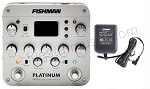 Fishman Platinum Pro-EQ Guitar/Bass Preamp/EQ/DI w/XLR Out, Free 910-R AC Adapter