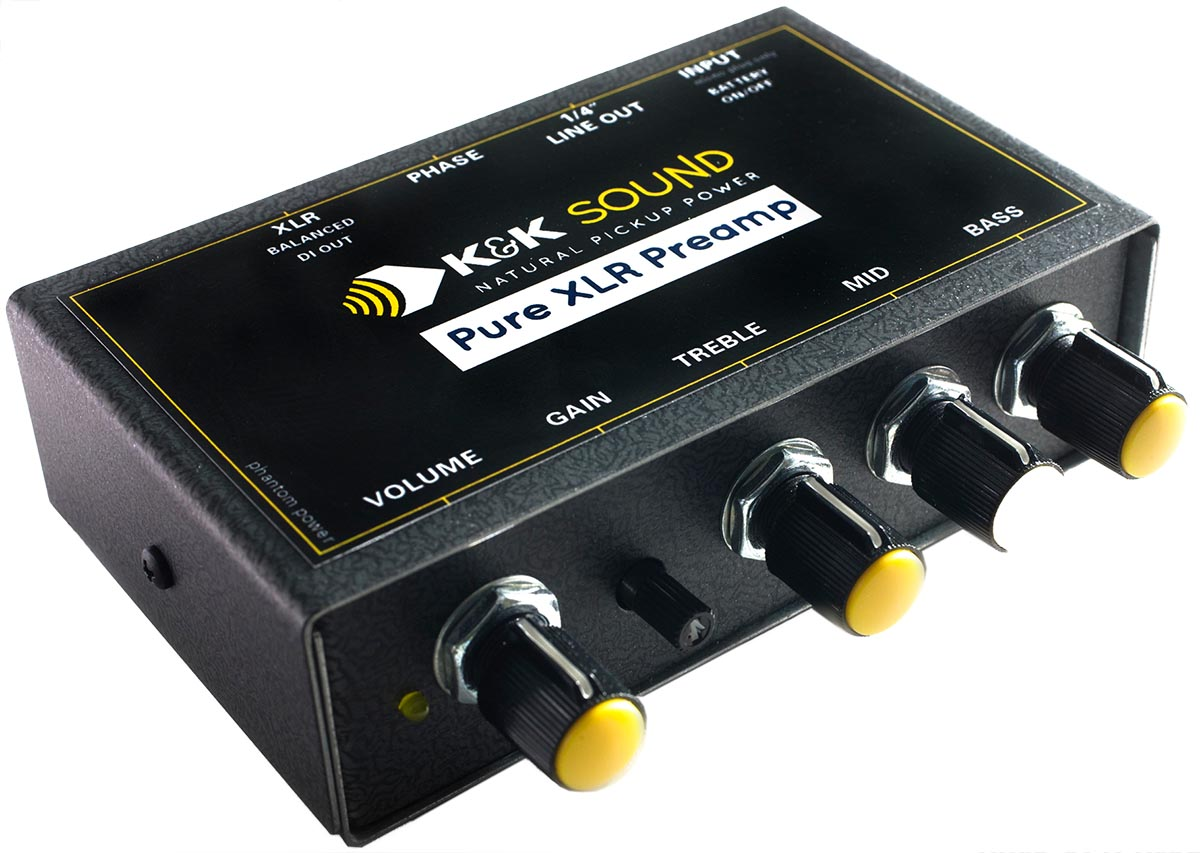 Details about K&K Sound Pure XLR Preamp/EQ/DI for Passive Piezo or Magnetic  Guitar Pickups NEW