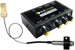 K&K Sound Definity PRO Pickup w/Pure XLR Preamp for Floating Bridge Guitars, Gold