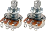 2 PACK: Mighty Mite MM701 Control Potentiometer 250K Linear (Tone) Short Shaft Mini-Pots