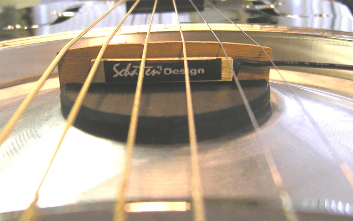 Schatten NR-2 PRO Biscuit Bridge Resonator Pickup w//MVC Jack Vol