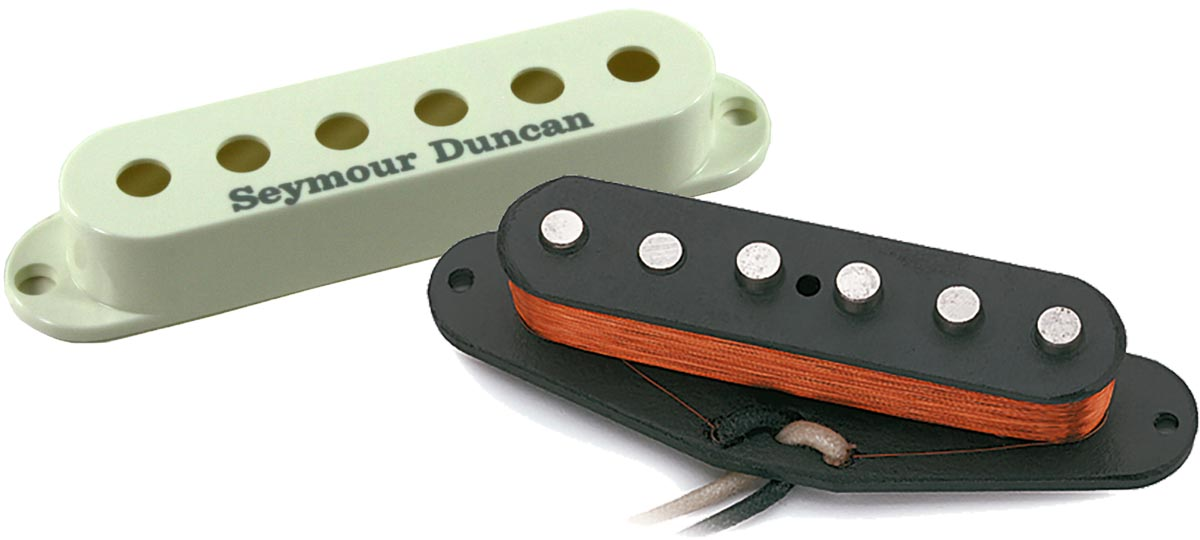 Seymour Duncan APS-1R Alnico 2 Pro Left-Hand Staggered Strat Middle Pickup,  RWRP, Parchment