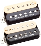 Seymour Duncan Hot Rodded Humbucker Set, SH-2n Neck and SH-4 JB Bridge Pickups, Zebra/Reverse Zebra