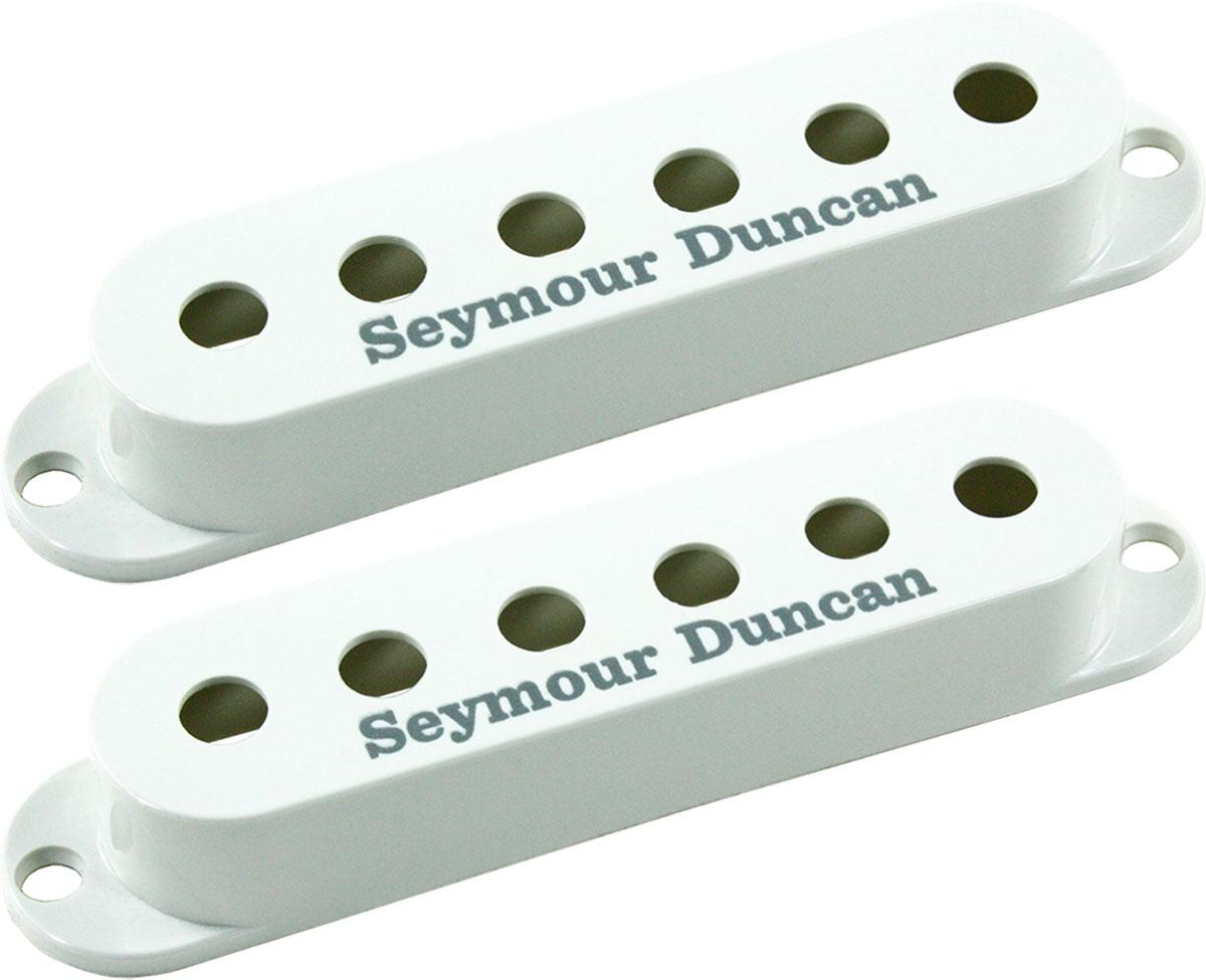 Seymour Duncan Set Of 2 Pickup Covers For Strat Single Coil Pickups Emg Solderless Wiring Kit 1 Or Long Shaft Ebay White New