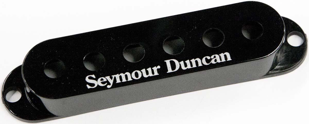 seymour duncan pickup cover for strat single coil pickups black with logo. Black Bedroom Furniture Sets. Home Design Ideas