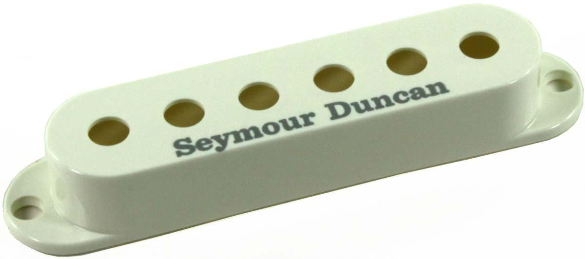 seymour duncan pickup cover for strat single coil pickups parchment w logo new ebay. Black Bedroom Furniture Sets. Home Design Ideas