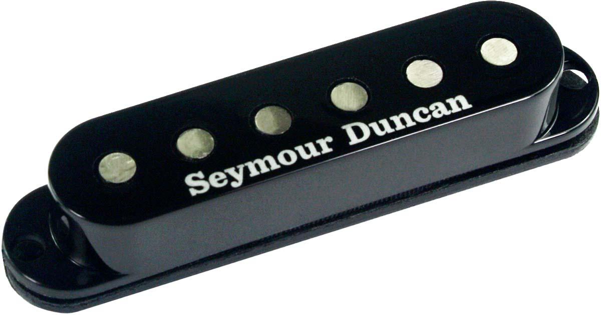 Seymour Duncan SSL-3 Hot Single Coil Strat Pickup, Alnico 5, Black Cover