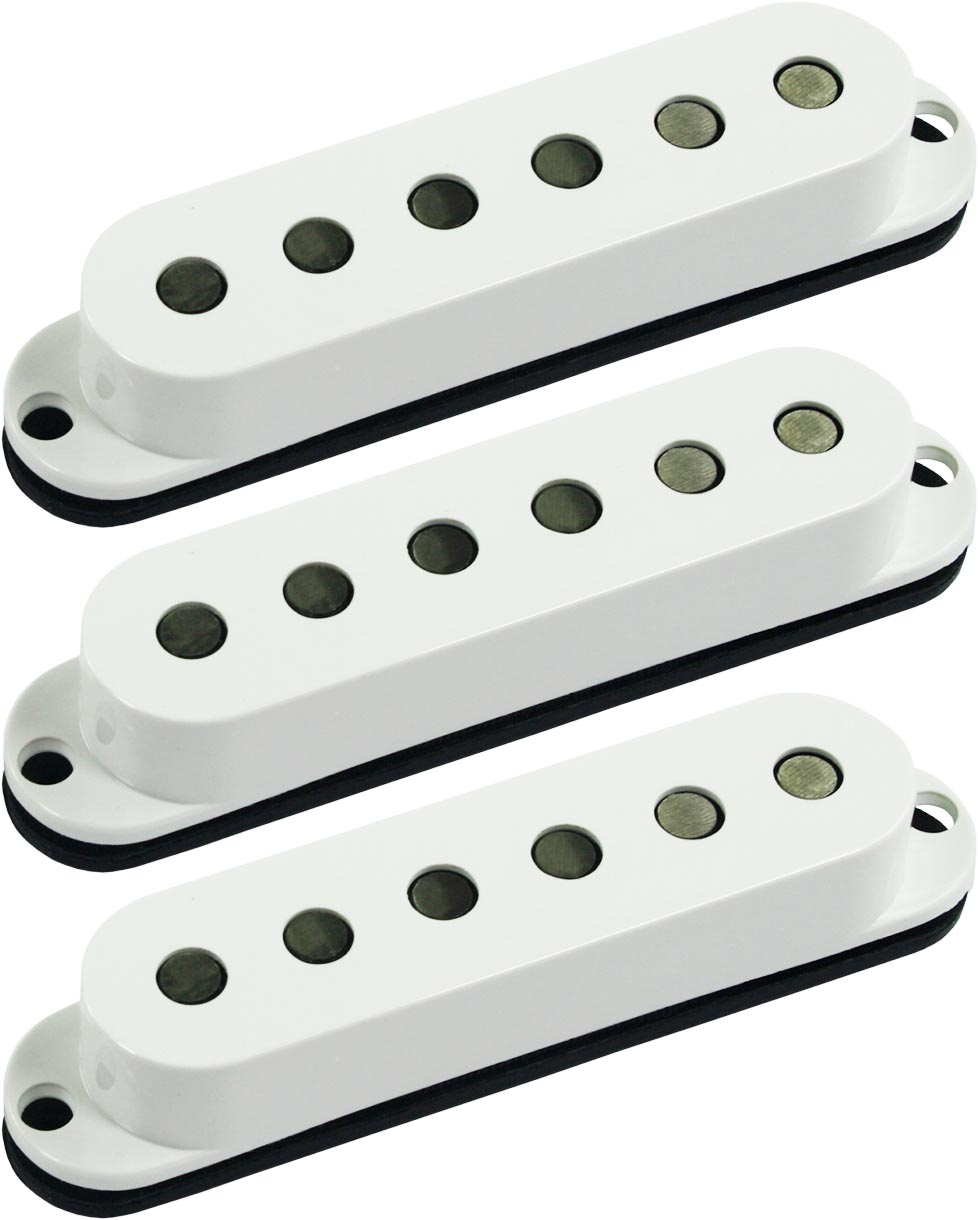 Black Seymour Duncan APS-1 CSET Alnico 2 Pro CALIBRATED Staggered 3 Pickup Set