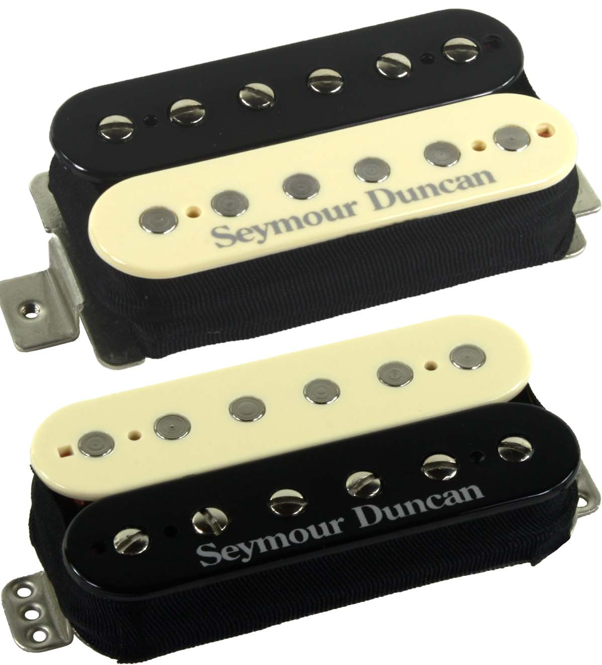 Seymour Duncan F-Spaced Hot Rodded Humbucker Set, SH-2n Neck + TB-4 JB  Bridge Pickups, Reverse Zebra