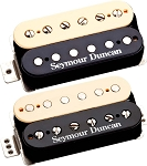 Seymour Duncan F-Spaced Hot Rodded Humbucker Set, SH-2n + TB-4 JB Pickups, Zebra/Reverse Zebra