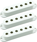 Seymour Duncan Pickup Cover 3-Pack for Strat Single Coil Pickups, White, No Logo