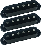 Seymour Duncan SSL-5 Custom Staggered Strat 3 Pickup Calibrated Set, Black, No Logo