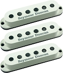 Seymour Duncan SSL-5 Custom Staggered Strat 3 Pickup Calibrated Set, Parchment