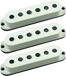 Seymour Duncan SSL-5 Custom Staggered Strat 3 Pickup Calibrated Set, Parchment, No Logo