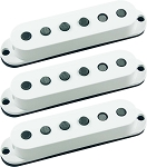 Seymour Duncan SSL-5 Custom Staggered Strat 3 Pickup Calibrated Set, White, No Logo