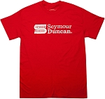 Seymour Duncan S-Logo T-Shirt, Large, Red, Short Sleeve