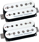 Seymour Duncan Distortion Mayhem Set: TB-6b Bridge + SH-6n Neck, F-Spaced, White