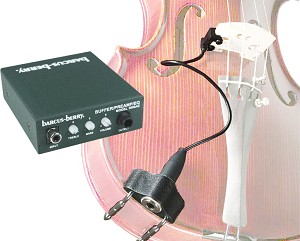 Barcus-Berry 3110 Clamp-on Violin Bridge Pickup w/3000A Preamp