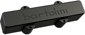 Bartolini 9CBJD-L3 Dual Inline Coil 4-String J-Bass Bridge Pickup, Black