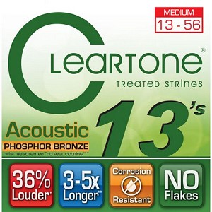 ClearTone 7413 Micro-Treated Phosphor Bronze Medium Guitar Strings .013-.056, NOS