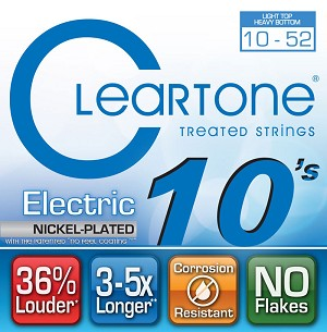 ClearTone 9420 EMP Coated Nickel Plated Electric Guitar Strings Light Top/Heavy Bottom 010-052, NOS