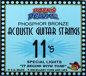 Dr. Duck's Special Light Phosphor Bronze Guitar Strings .011-.050 SL