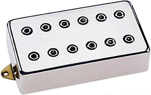 DiMarzio DP104F Super 2 Hot Distortion Ceramic Humbucker Pickup, F-Spaced, Nickel
