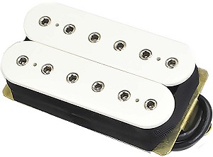 DiMarzio DP104F Super 2 Hot Distortion Ceramic Humbucker Pickup, F-Spaced, White
