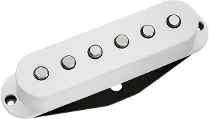 DiMarzio DP175 True Velvet Vintage Alnico 5 Single Coil Strat Neck Pickup, White