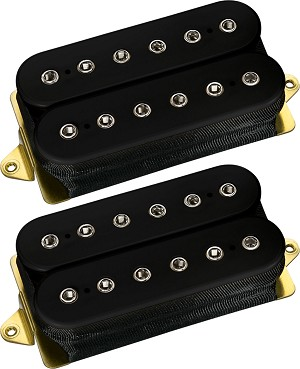 DiMarzio DP219 + DP220 D Activator Humbucker Neck/Bridge Pickup Set, Standard Spaced, Black