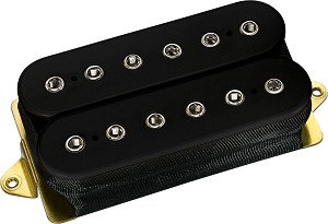 DiMarzio DP220F D Activator Frequency Tuned Ceramic Humbucker Bridge Pickup, Black, F-Spaced