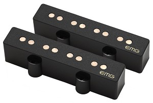EMG JV-Set Active Two Pickup Bridge/Neck Set for J-Bass, Black