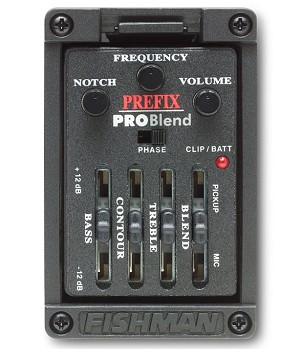Fishman Prefix Pro Blend Side-mount Guitar Preamp/Pickup/EQ .094""