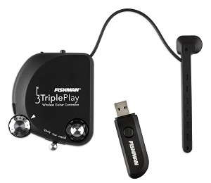 Fishman TriplePlay Rechargeable USB Wireless MIDI Guitar Controller w/Software