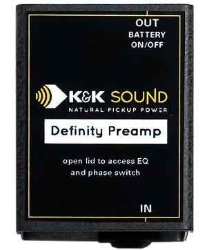 K&K Sound Definity Preamp Only, Pickup Not Included