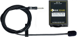 K&K Sound Golden Bullet Stringed Instrument Microphone with Preamp, XLR Out