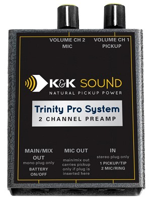 K&K Sound Trinity Pro Dual Channel Belt-clip Preamp w/Phase