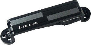Lace 21055 Alumitone Single Guitar Pickup, Black Anodized, Lace Logo