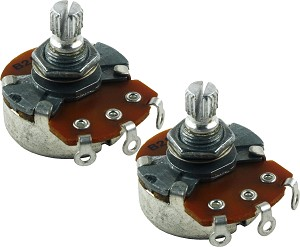 2 PACK: Mighty Mite MM716 Control Potentiometer 250K Linear (Tone) Short Shaft Pots