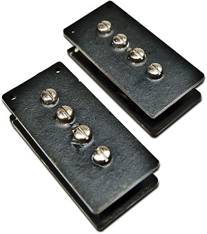 MojoTone Knockout P-Bass Precision Ceramic Bass Pickup Set, Black