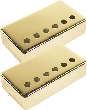 Set of Two Seymour Duncan Non-Magnetic Gold Covers for Humbucker Pickups
