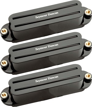 Seymour Duncan SHR-1s Hot Rails 3 Pickup Neck/Middle/Bridge Strat Pickup Set, Black