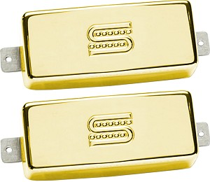 Seymour Duncan SM-2 Custom Mini Humbucker Firebird Neck/Bridge Pickup Set, Gold
