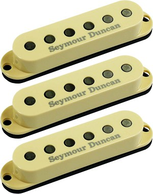 Seymour Duncan SSL-3 CSET Hot Single Coil Strat 3 Pickup Calibrated Set, Cream