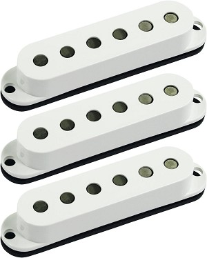 Seymour Duncan SSL-6 Custom Flat Strat 3 Pickup Calibrated SET, White, No Logo
