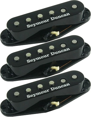Seymour Duncan APS-1-CSET Alnico 2 Pro Staggered 3 Pickup Calibrated Set for Strat, Black