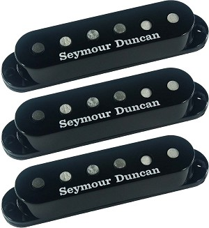 Seymour Duncan SSL-5 Custom Staggered Strat 3 Pickup Calibrated Set, Black