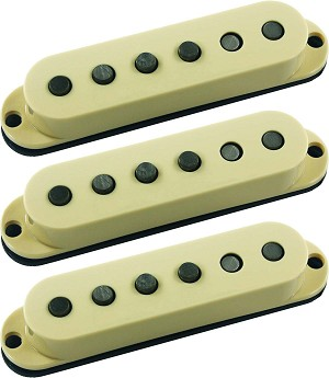 Seymour Duncan SSL-5 Custom Staggered Strat 3 Pickup Calibrated Set, Cream, No Logo
