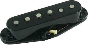 Seymour Duncan APS-1R Alnico 2 Pro Staggered Strat Middle Pickup, RWRP, Black, No Logo