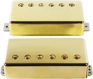 Seymour Duncan Distortion Mayhem Set: TB-6b Bridge + SH-6n Neck, F-Spaced, Gold